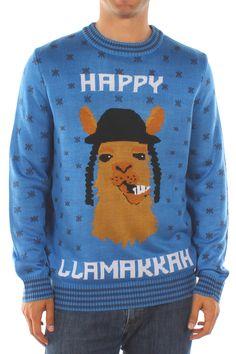 Men's Happy Llamakkah Sweater