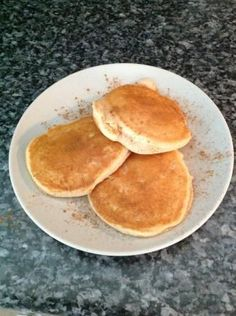 Need an eggless pancake recipe? This one is great! We made these for breakfast today and they were very good!
