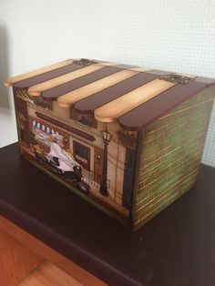 Ekmek kutusu Decoupage Box, Decoupage Vintage, Tole Painting, Acrylic Paintings, Hobbies And Crafts, Projects To Try, Techno, Boxes, Home Decor
