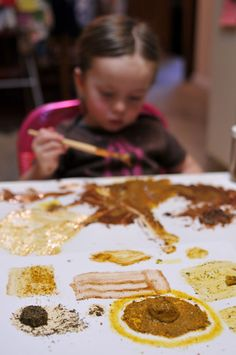Painting with spices. Engaging the other senses in art.