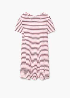 Flowy striped dress | MANGO
