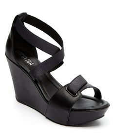 Black Sole My Love Wedge Sandal by Kenneth Cole Reaction #zulily #zulilyfinds