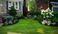 Black mulch landscaping idea