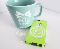 Fun Monogram Set of Two Bow or Scalloped by DBYDesignedByYou, $6.00