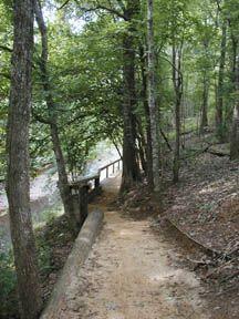 hiking Trail along Lanana Creek in Nacogdoches