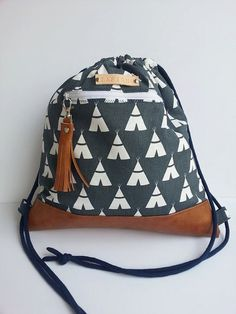 Canvas Backpack/Canvas Rucksack by TAPISHODESIGN on Etsy
