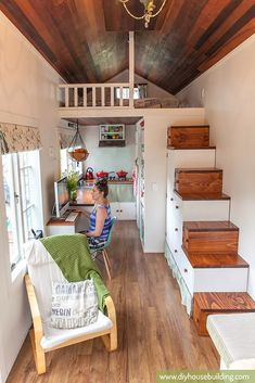 Have you ever dreamed on building your own tiny house? Well now you can with these comprehensive tiny house plans .build you dream tiny house now. Building A Tiny House, Tiny House Plans, Tiny House On Wheels, Best Tiny House, Tiny House Movement, Casas Containers, Tiny Spaces, Attic Spaces, Tiny House Living