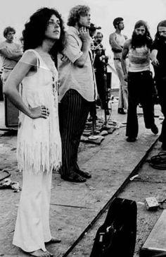 Grace Slick at Woodstock, 1969.