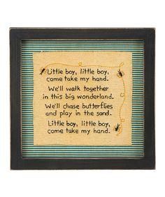 Another great find on #zulily! 'Little Boy' Stitchery Sign #zulilyfinds