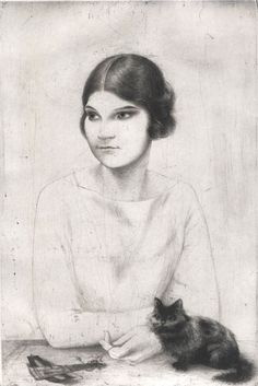 Ruth, état VI, H. 236, drypoint, Stockholm-London 1926, 303 x 213mm
