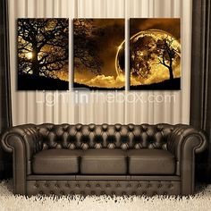 Stretched Canvas Art Dusk Under The Tree Set of 3 - USD $ 69.99