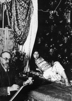 Henri Matisse and model by Man Ray, 1928