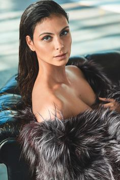 Actress Morena Baccarin wears Helena Yarmak fur jacket for GQ Magazine Mexico December 2016 edition
