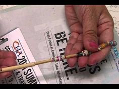 ▶ How to: Cut & Roll Magazine Strips for Paper Beads by JaniceMae -  best tutorial for creating paper beads I have found so far!