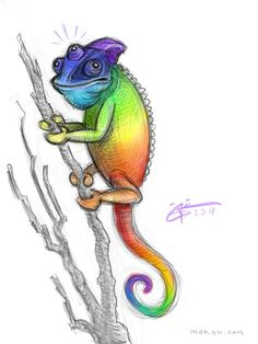 #KarmaChameleon #art #digitaldrawing #sketch #krita #mywork