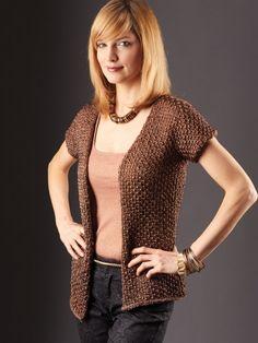 Glam It Up Cardigan | Yarn | Free Knitting Patterns | Crochet Patterns | Yarnspirations