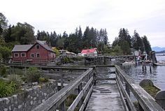 Strolling the boardwalk in Bamfield, Pacific Rim, Vancouver Island, BC.