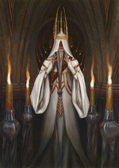 Artist: Drew Baker - Title: empress witch - Card: Disloyal Priestess Dulce