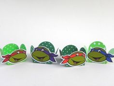 24 Forminhas Decoradas Tartarugas Ninja-Cortes para Montar  www.petilola.com.br