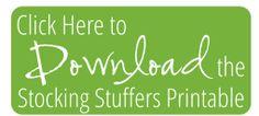 Stocking Stuffer Ideas ~