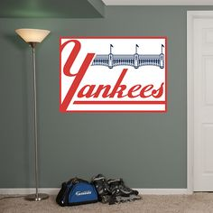 new york yankees classic logo - New York Yankees Bedroom Decor