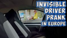 Funny auto - Invisible Driver Prank In Europe