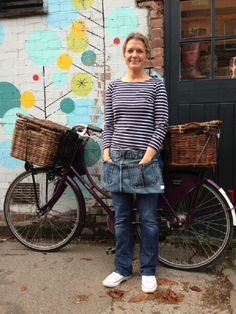 One of our Denim Aprons modelled by @NyborgsKitchen  They're ideal for Independent Cafes and their waitresses/waiters or busying around your kitchen at home. They can fit all sizes as they are made to order. #homedecor http://onlydenim.co.uk/product/aprons/