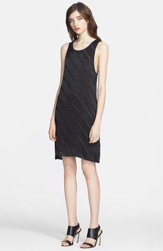 L'AGENCE Chiffon Ribbon Stripe Dress available at #Nordstrom
