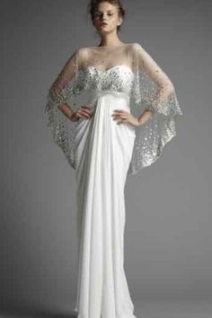 Zuhair Murad Spring 2011 RTW White Gown With Capelet Profile Photo