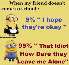 When my friend doesn't..