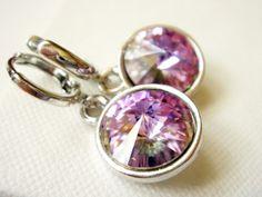 Enchanting Swarovski Crystal Drop Earrings. Symmetric