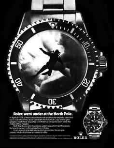 1975 Rolex Submariner AD featuring Dr. Joseph Macinnis.