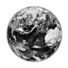 Bilde jorden 70x70 sort