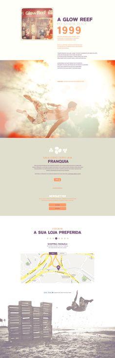 Unique Web Design, Glow Reef #WebDesign #Design (http://www.pinterest.com/aldenchong/)