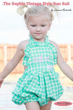 NEW PDF Epattern The Sophie Vintage Style Sun Suit by hautediggity, $10.00    If Mae were younger...