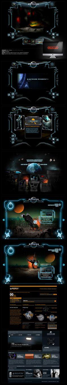Nintendo Metroid Website - Designed By Eric Jordan (www.ericjordan.com) #webdesign #graphic #design