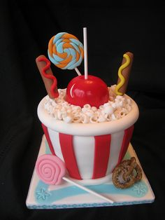 Carnival Cake by CakesByLaura_WestRouge, via Flickr
