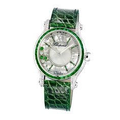 @chopard Happy Sport Medium Automatic Joaillerie #Emerald