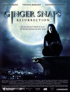 High resolution French dvd movie cover image for Ginger Snaps 2 The image measures 1523 * 2010 pixels and is 772 kilobytes large. Ginger Snaps Movie, Poster On, Poster Prints, Katharine Isabelle, Tatiana Maslany, Information Poster, Movie Covers, Original Movie Posters, Amazon Prime Video
