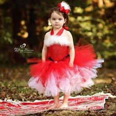Christmas Mrs Claus Tutu Dress Baby Toddler