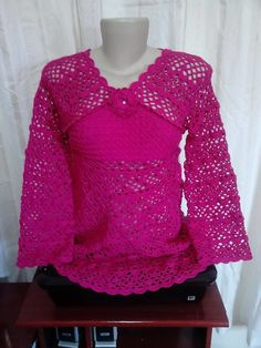 Blusa para gestante confeccionada com fio 100% algodão.
