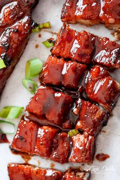Sticky Chinese Barbecue Pork Belly (Char Siu)   cafedelites.com