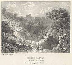 Dudley Castle. From the Old Lime Quarry mid 19th century