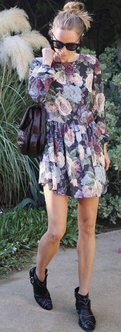 Anine's World Little Floral Dress Fall Inspo