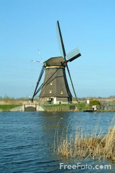 Windmill, Kinderdijk - Kinderdyke, Holland - The Netherlands