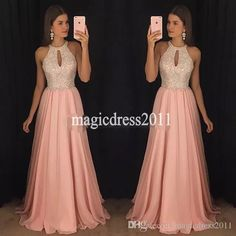 Gorgeous Pink Chiffon Prom Dresses A-Line Halter Major Beaded Ruffled Pleated Evening Formal Gowns Long Chiffon Dress for Party Wear - Best Tutorial and Ideas Cute Prom Dresses, Plus Size Prom Dresses, Prom Dresses For Sale, Prom Dresses With Sleeves, Trendy Dresses, Ball Dresses, Cheap Dresses, Homecoming Dresses, Evening Dresses