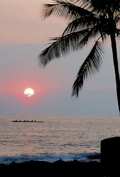 Sunset, Kona, Big Island of Hawaii.