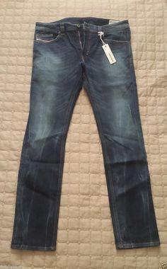 #ebay men cloth fashion sale DIESEL men jeans THAVAR Stretch size 34W 32 98% cotton 2% Elastane Slim Skinny withing our EBAY store at  http://stores.ebay.com/esquirestore