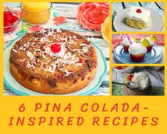 Light Desserts, Fun Desserts, Sherbet Recipes, Pineapple Recipes, Pina Colada Cake, Chicken Gizzards, Ambrosia Salad, Just A Pinch, Fruity Drinks