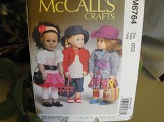 Doll Outfits Laura Ashley Designs Pattern by RADBears on Etsy $3